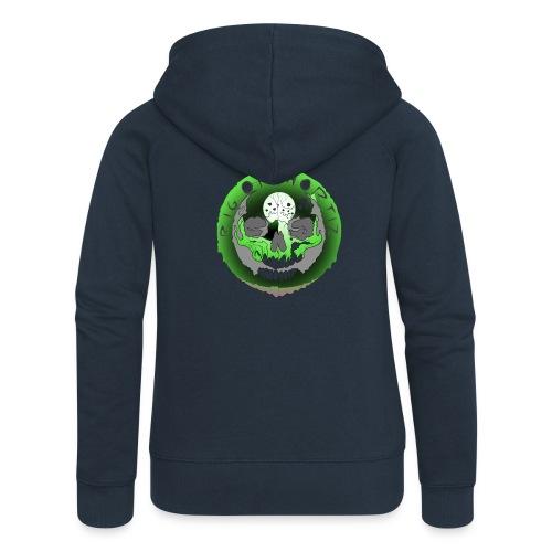 Rigormortiz Metallic Green Design - Women's Premium Hooded Jacket