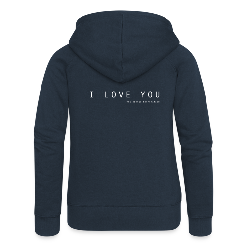 I Love You by The Nerved Corporation - Women's Premium Hooded Jacket
