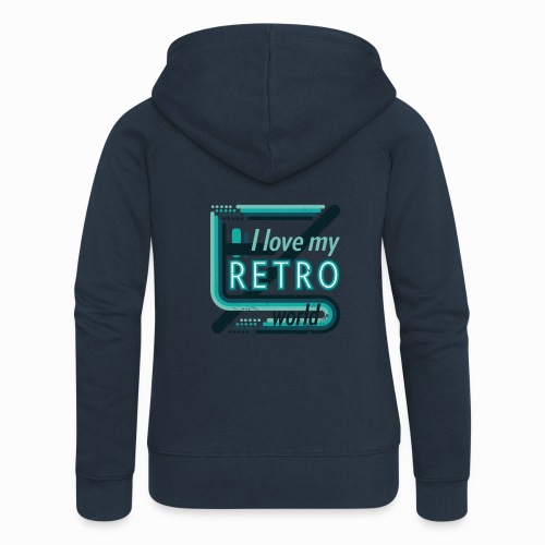 Retro world - Women's Premium Hooded Jacket