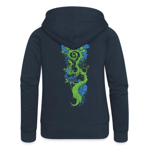 Parvati FootMoss logo in blue & green - Women's Premium Hooded Jacket