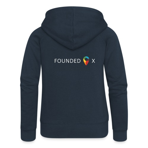 FoundedX logo white png - Women's Premium Hooded Jacket