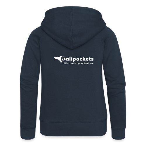 Balipockets Logo Weiß - Frauen Premium Kapuzenjacke