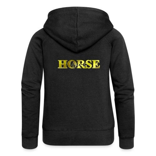 Horsegirl Reiten Pferde Geschenk - Frauen Premium Kapuzenjacke