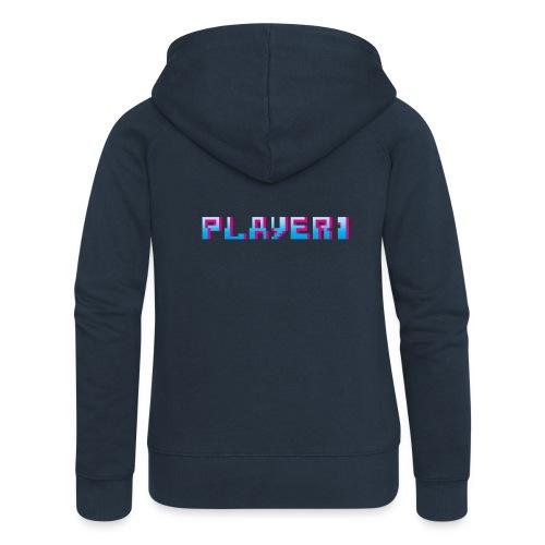Arcade Game - Player 1 - Women's Premium Hooded Jacket