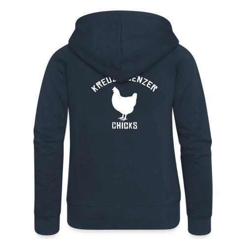 Kreuzfluenzer Chicks WHITE - Frauen Premium Kapuzenjacke