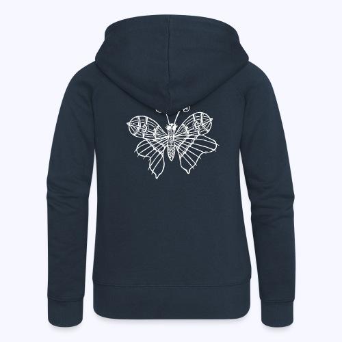 Schmetterling weiss - Frauen Premium Kapuzenjacke
