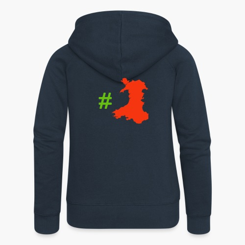Hashtag Wales - Women's Premium Hooded Jacket