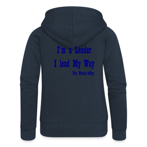 I lead My Way Blue - Rozpinana bluza damska z kapturem Premium