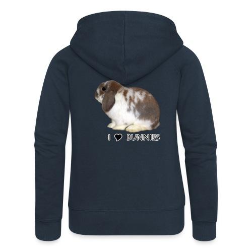 I Love Bunnies Luppis - Naisten Girlie svetaritakki premium