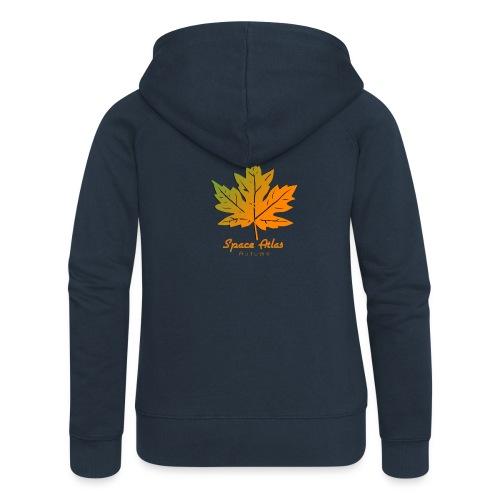 Space Atlas Long Sleeve T-shirt Autumn Leaves - Dame Premium hættejakke