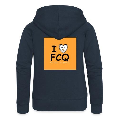 I Love FCQ button orange - Frauen Premium Kapuzenjacke