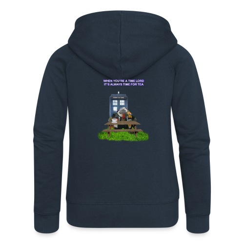 TIME AND SPACE AND TEA - Women's Premium Hooded Jacket