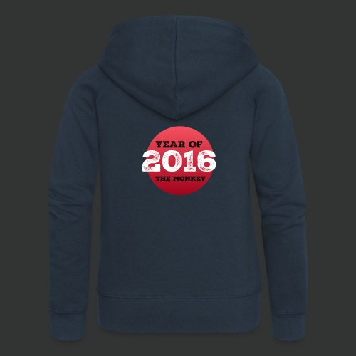 2016 year of the monkey - Women's Premium Hooded Jacket