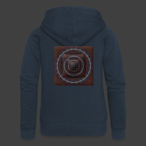 Time Tunnel Brown - Women's Premium Hooded Jacket