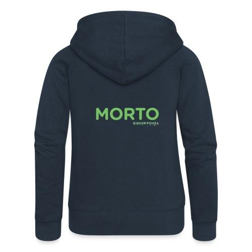 MORTO - Felpa con zip premium da donna
