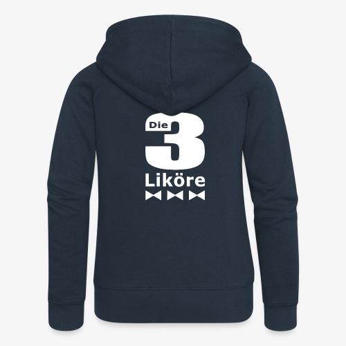 Die 3 Liköre - logo weiss - Frauen Premium Kapuzenjacke