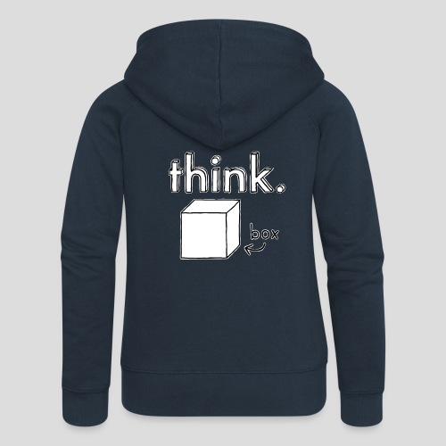 Think Outside The Box Illustration - Women's Premium Hooded Jacket