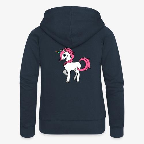 Süsses Einhorn mit rosa Mähne und Regenbogenhorn - Frauen Premium Kapuzenjacke