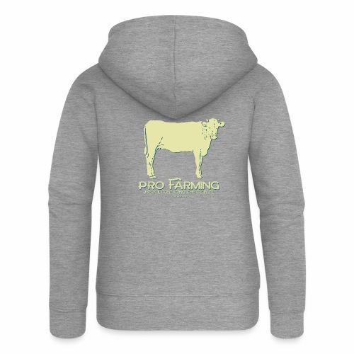 PRO Farming - Felpa con zip premium da donna