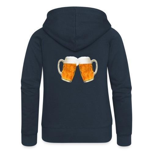 Zwei Bier - Frauen Premium Kapuzenjacke