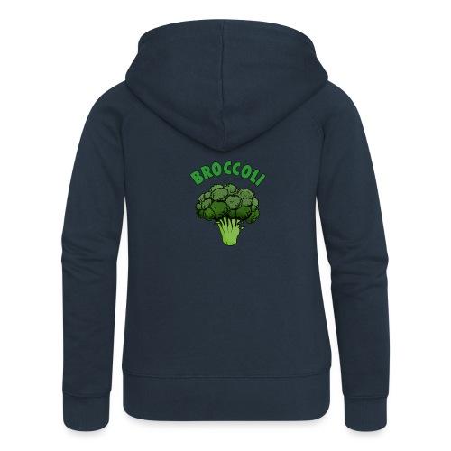 Big Green Broccoli - Women's Premium Hooded Jacket