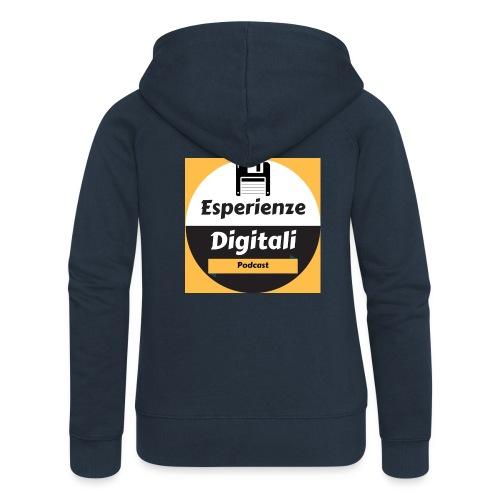 Logo Esperienze Digitali - Felpa con zip premium da donna