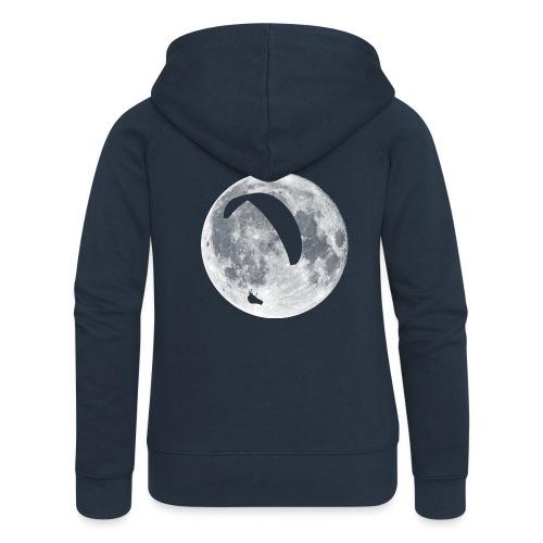 Paragleiter im Mond - Frauen Premium Kapuzenjacke