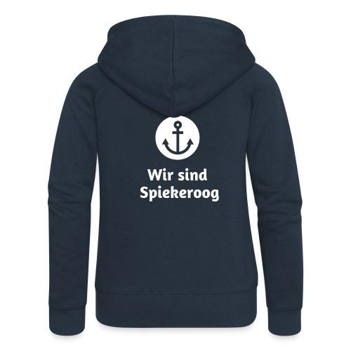 Wir sind Spiekeroog Logo weiss - Frauen Premium Kapuzenjacke