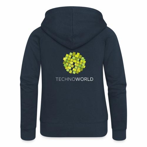 Techno World - Frauen Premium Kapuzenjacke