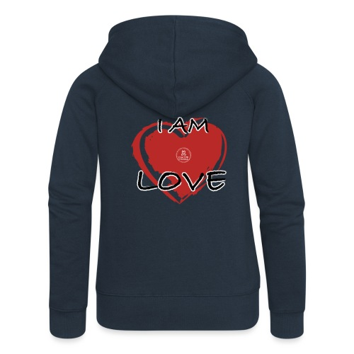 IM LOVE MaitriYoga - Veste à capuche Premium Femme