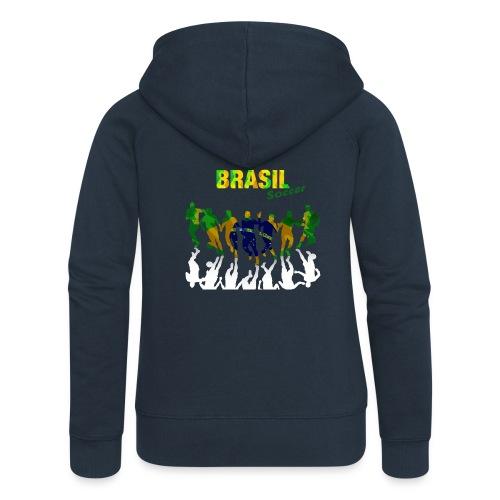 Brasil Soccer - Women's Premium Hooded Jacket