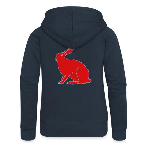 Roter Hase - Frauen Premium Kapuzenjacke