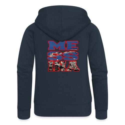 MESSINA RED - Felpa con zip premium da donna