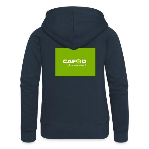 CAFOD Logo greenback - Women's Premium Hooded Jacket