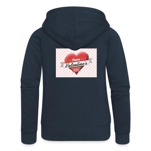 happy valentines day - Women's Premium Hooded Jacket