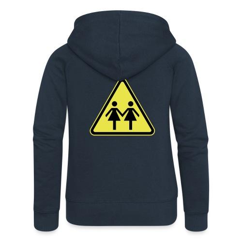 ACHTUNG LESBEN POWER! Motiv für lesbische Frauen - Frauen Premium Kapuzenjacke