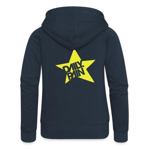 daily pain star - Rozpinana bluza damska z kapturem Premium