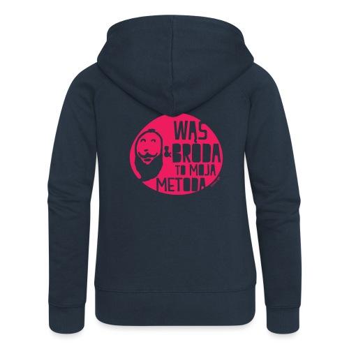 Wąs and Broda - Rozpinana bluza damska z kapturem Premium