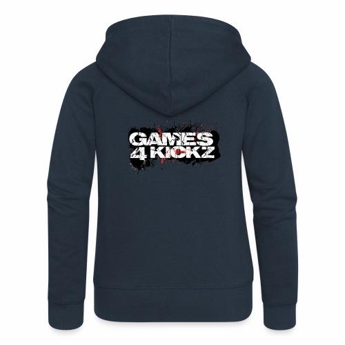 Games4Kickz Logo Splattered Background - Women's Premium Hooded Jacket