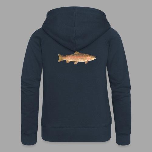 low-polygon-trout art.png - Naisten Girlie svetaritakki premium