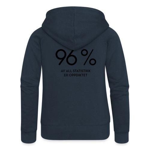 Statistikk-sprøyt (fra Det norske plagg) - Premium hettejakke for kvinner