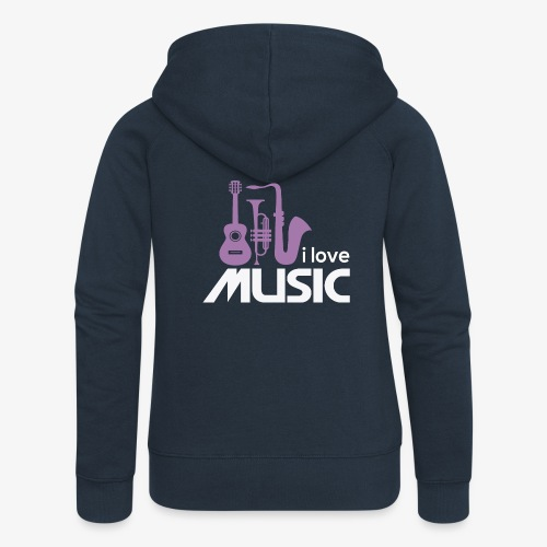 Amo la música 02 - Chaqueta con capucha premium mujer