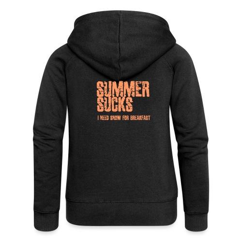 SUMMER SUCKS - Vrouwenjack met capuchon Premium