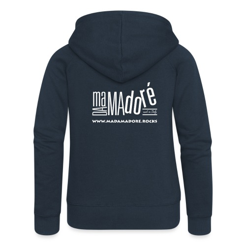 T-Shirt Premium - Donna - Logo Bianco + Sito - Felpa con zip premium da donna