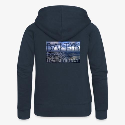 Bałtyk - Rozpinana bluza damska z kapturem Premium