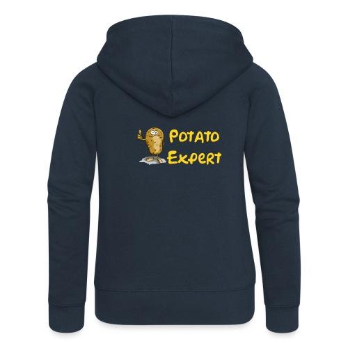 SMT potato expert - Felpa con zip premium da donna