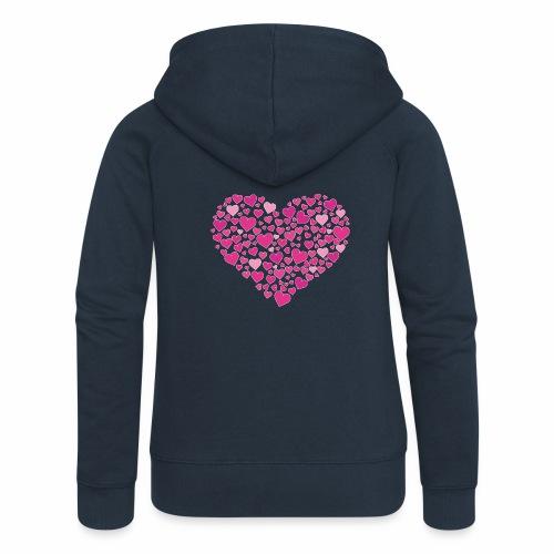 Herz aus Herzal - Frauen Premium Kapuzenjacke
