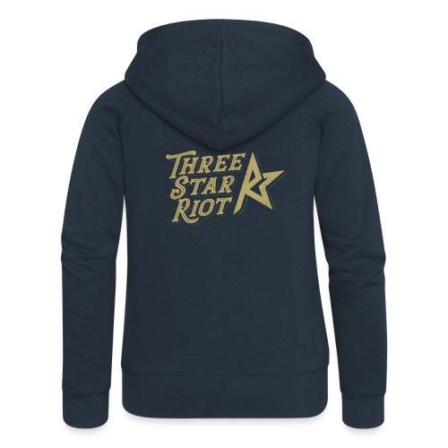 Three Star Riot logo väri - Naisten Girlie svetaritakki premium