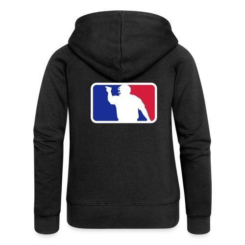 Baseball Umpire Logo - Women's Premium Hooded Jacket