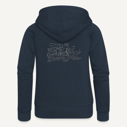ft17 - Rozpinana bluza damska z kapturem Premium